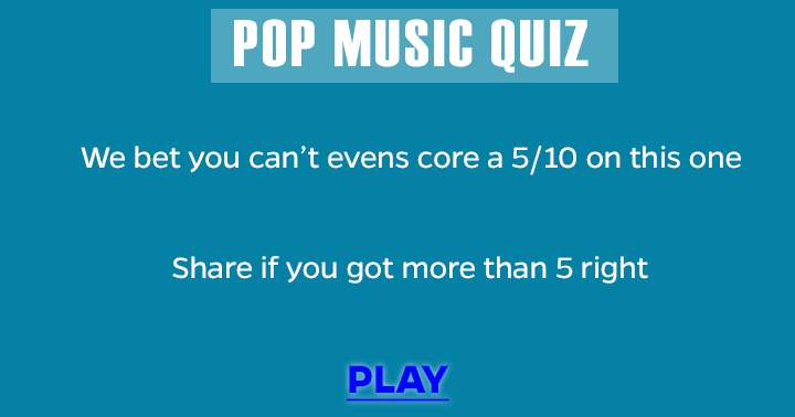 Very hard Pop Music Quiz