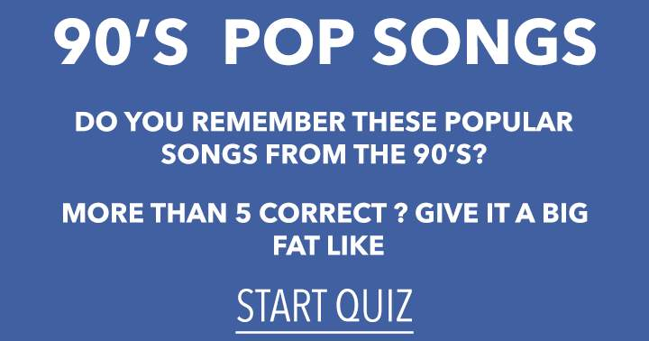 90's hit song quiz
