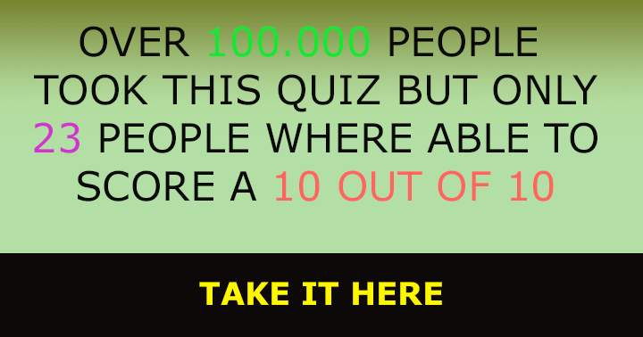 Only 23 people got a perfect 10 in this general knowledhge quiz