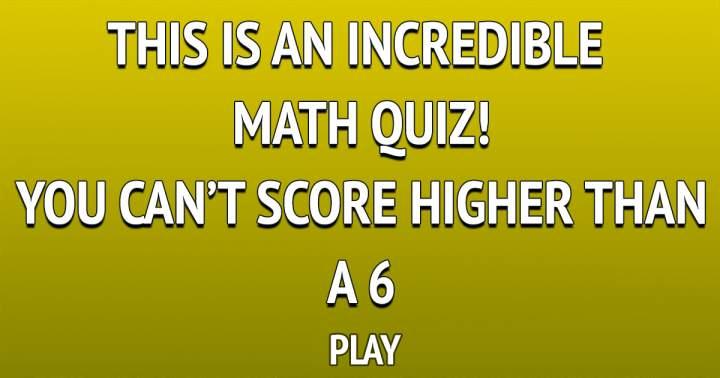 Incredible Math Quiz
