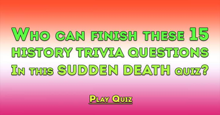 History Sudden Death