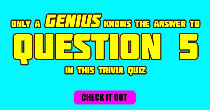 Are you a genius?