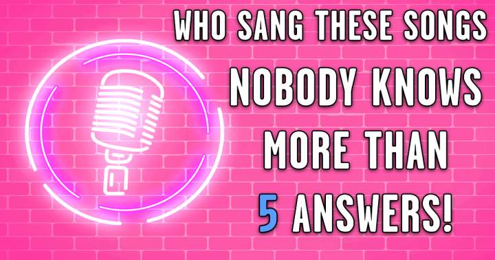 Who Sang These Songs?
