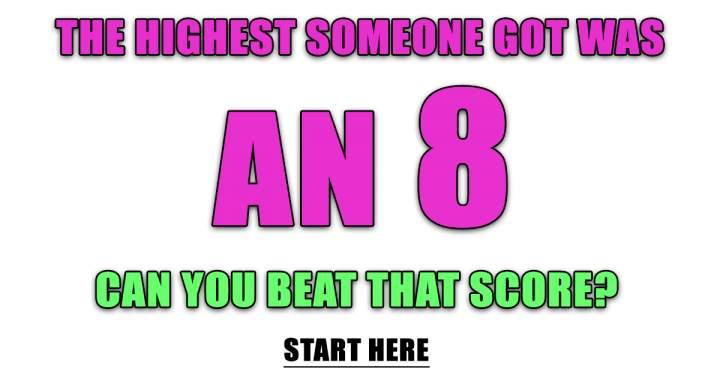 Play This Unbeatable Quiz