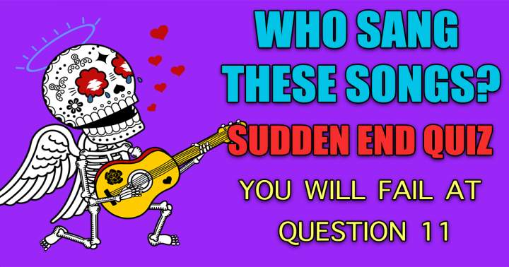 Who Sang Sudden End Quiz