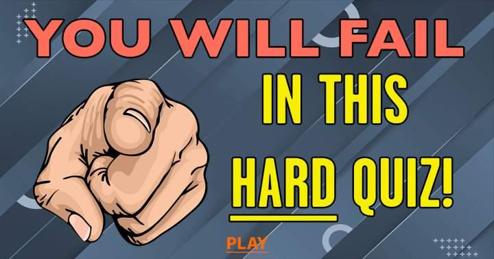 Unbeatable HARD Quiz